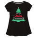 Girls black and green christmas tree blouse - Wimziy&Co.
