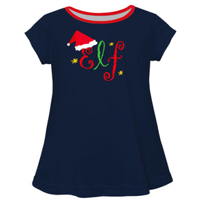 Girls navy elf blouse - Wimziy&Co.