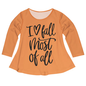 Girls orange and brown fall blouse - Wimziy&Co.