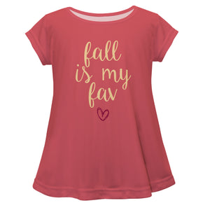 Fall Is My Fav Pink Short Sleeve Laurie Top