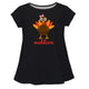 Turkey Girl Name Black Short Sleeve Laurie Top