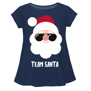 Girls navy team Santa blouse - Wimziy&Co.