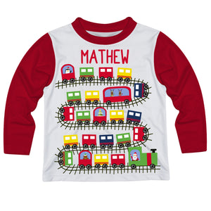 Boys white and red Santa tee shirt with name - Wimziy&Co.