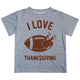 I Love Thanksgiving Gray Short Sleeve Tee Shirt