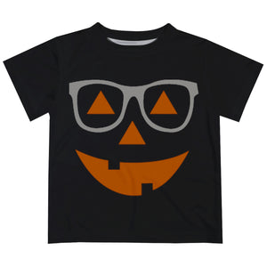 Boys black and orange jack o lantern tee shirt - Wimziy&Co.