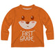 Boys orange foxy tee shirt with grade - Wimziy&Co.
