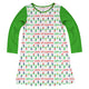 Girls white and green lights dress with name - Wimziy&Co.