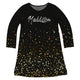 Girls black stars dress with name - Wimziy&Co.