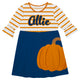 Girls navy and orange pumpkin with name - Wimziy&Co.