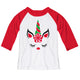 Girls white and red unicorn blouse - Wimziy&Co.