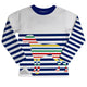Boys white and blue striped sweatshirt - Wimziy&Co.