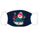 Merry Christmas Navy Face Mask - Wimziy&Co.