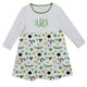 St. Patricks Day Print Monogram White Long Sleeve Epic Dress - Wimziy&Co.