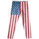 Americana USA Flag Blue Red and White Leggings - Wimziy&Co.