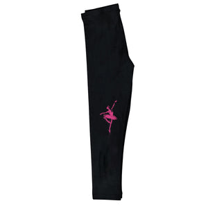 Ballerina Silhouette Name Black Leggings - Wimziy&Co.