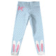 Bunny Initial Name Light Blue Polka Dots Leggings - Wimziy&Co.