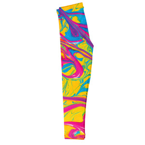 Marble Print Colors Leggings - Wimziy&Co.