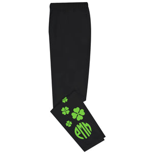 Clovers Monogram Black Leggings - Wimziy&Co.