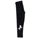 Black and white horse girls leggings with name - Wimziy&Co.