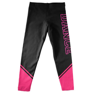 Dance Black and Hot Pink Leggings - Wimziy&Co.