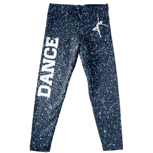 Navy glitter dancer silhouette leggings