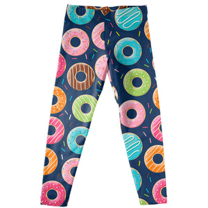 Donuts Print Navy Leggings - Wimziy&Co.