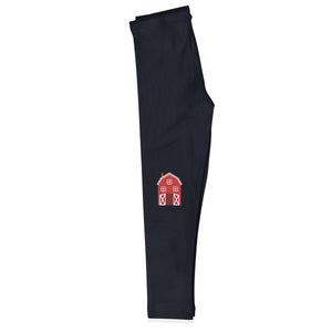 Black and white name farmer girls leggings