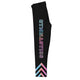 Black and multicolor gymnastics girls leggings - Wimziy&Co.