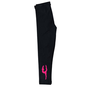 Black and hot pink gymnast silhouette with name - Wimziy&Co.