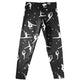 Black and white gymnasts girls leggings with name - Wimziy&Co.
