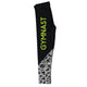 Black and green gymnast girls leggings with name