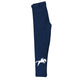 Navy and white equestrian girls leggings with initial - Wimziy&Co.