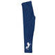 Navy and white equestrian girls leggings with name - Wimziy&Co.
