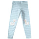 Light blue and gray stripes cute llamas girls leggings - Wimziy&Co.
