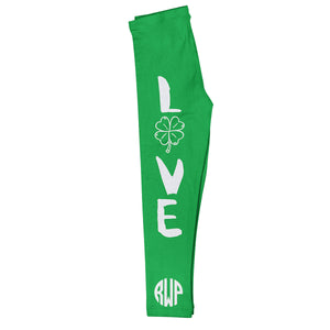 Love Monogram Green Leggings - Wimziy&Co.