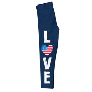 Love Heart Navy Leggings - Wimziy&Co.