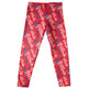 Usa Flag And Name Print Red Leggings - Wimziy&Co.