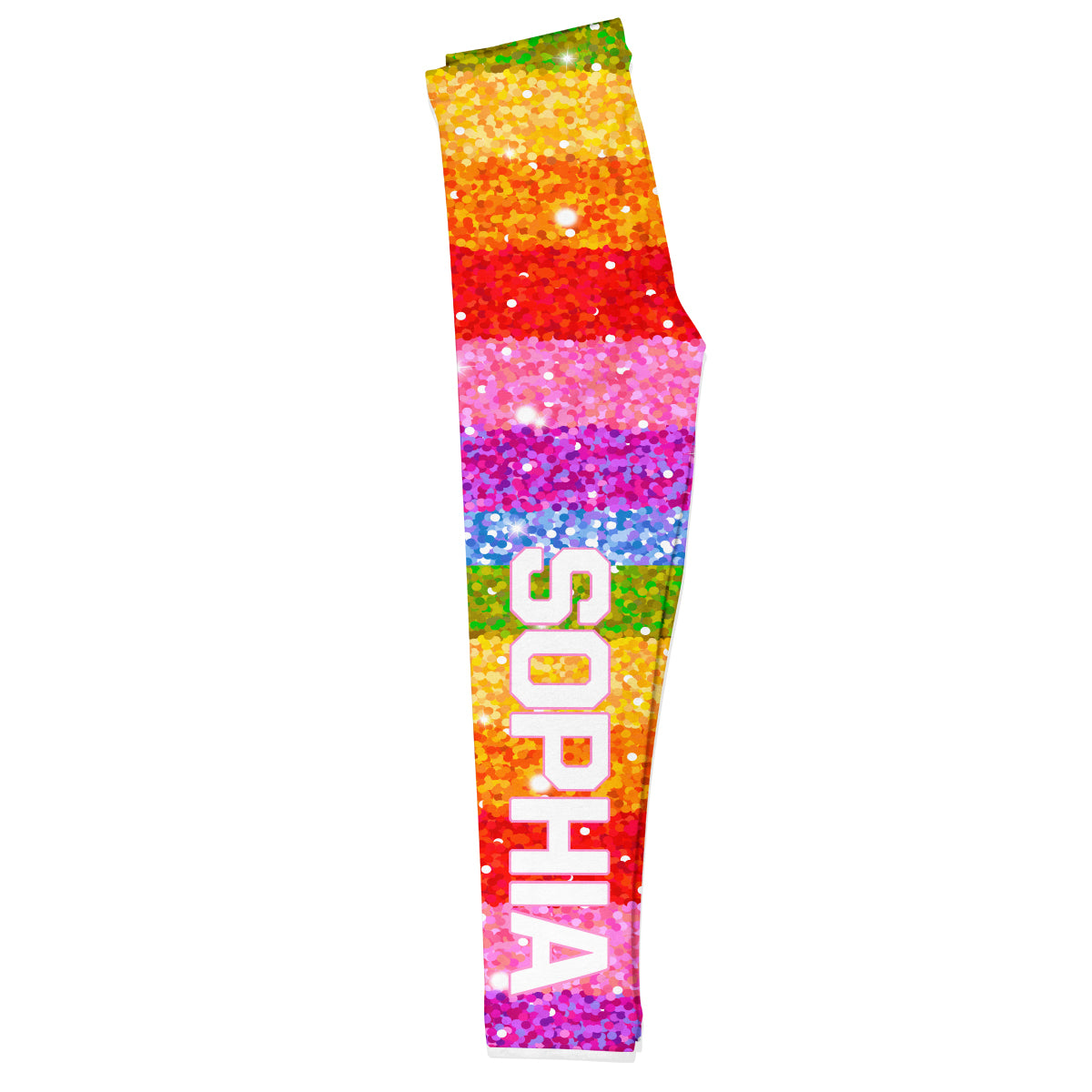 Rainbow Name Glitter Colors Leggings - Wimziy&Co.