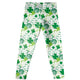 Shamrock and Monogram Print White Leggings - Wimziy&Co.