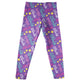 Purple leggings with stars and name - Wimziy&Co.