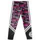 Black and pink girls leggings with monogram - Wimziy&Co.