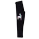 Black and white unicorn girls leggings with name - Wimziy&Co.
