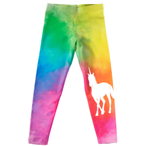 Rainbow and white unicorn girls legggings - Wimziy&Co.