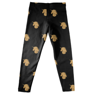 Black and gold unicorns girls leggings - Wimziy&Co.