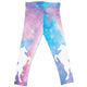 Watercolor and white unicorns girls leggings