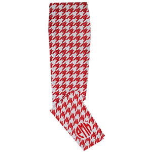 White and red houndstooth girls leggings - Wimziy&Co.