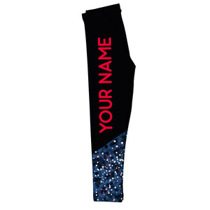 Your Name Black and Blue Leggings - Wimziy&Co.