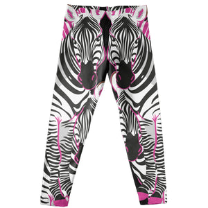 Zebra Black and White Leggings - Wimziy&Co.
