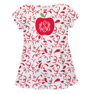 Apple Monogram White Short Sleeve Laurie Top - Wimziy&Co.