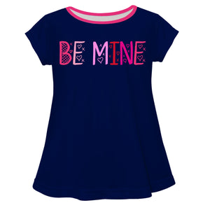 Be Mine Navy Short Sleeve Laurie Top - Wimziy&Co.